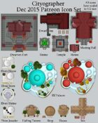 Cityographer December 2015 Monthly City Map Icons (Any Editor)