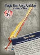 Magic Item Card Catalog: Weapons of Note