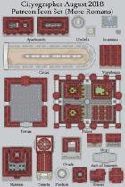Cityographer Roman (More) City Map Icons (Any Editor)