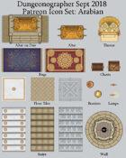 Dungeonographer Arabian Map Icons (Any Editor)