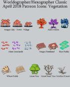 Hex/Worldographer Classic Style Strange Vegetation World Map Icons
