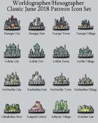 Hex/Worldographer Classic Style Underdark (Duergar, Svirfneblin, etc) World Map Icons
