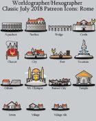 Hex/Worldographer Classic Style Roman World Map Icons