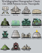 Hex/Worldographer Classic Style Necropolis World Map Icons