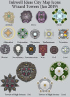 Cityographer Wizard Towers City Map Icons (Any Editor)