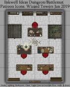 Dungeon/Battlemat Wizard's Tower Map Icons (Any Editor)