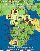 Hex/Worldographer Classic Style Wizard Tower World Map Icons