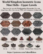 Worldographer Isometric Style 9 Hells Upper Levels Map Icons