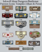 Dungeon/Battlemat Cleric Temple Map Icons (Any Editor)