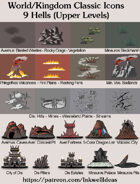 Hex/Worldographer Classic Style 9 Hells Upper Levels World Map Icons