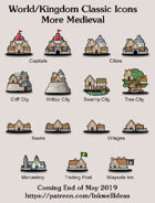 Hex/Worldographer Classic Style Medieval World Map Icons