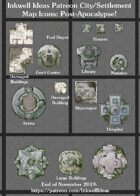 City/Village Post-Apocalyptic Map Icons (Any Editor)