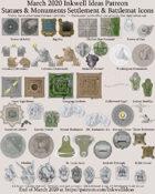 Worldographer Monuments World/Kingdom, Settlement, and Battlemat Map Icons