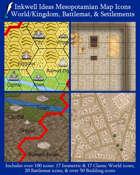 Worldographer Mesopotamian Battlemat, Settlement, and World/Kingdom Map Icons