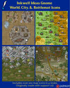 Worldographer Gnome Battlemat, Settlement, and World/Kingdom Map Icons