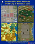 Worldographer Meso American Battlemat, Settlement, and World/Kingdom Map Icons
