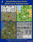 Worldographer Terror Realm Battlemat, Settlement, and World/Kingdom Map Icons
