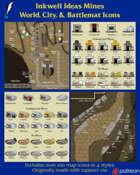 Worldographer Mines Battlemat, Settlement, and World/Kingdom Map Icons
