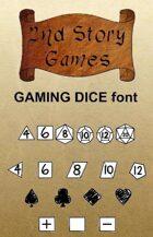 Gaming Dice True Type Font