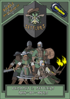 Roads of Apocalypse (3rd ed.) - Demo-set 1: Settlers men-at-arms