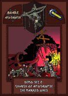 Roads of Apocalypse (4th ed.) - Demo-set 2: Church of Apocalypse. The marked ones