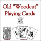 """Old """"Woodcut"""" Playing Cards"""