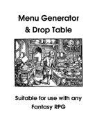 Menu Generator & Drop Table