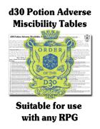 d30 Potion Adverse Miscibility Table