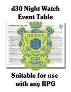 d30 Night Watch Event Table