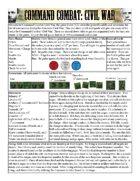 Command Combat: Civil War - 1 Sheet Rules & Scenario