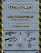 Savage Worlds SciFi Weapons Cards Expansion Set 01