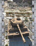 US M4 Sherman and German Tiger I WWII Tanks