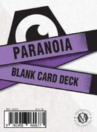 Paranoia Blank Card Deck
