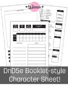 DnD 5e Booklet-style Custom Character Sheet