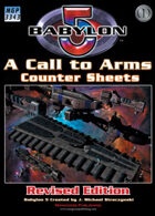 Babylon 5: A Call to Arms Counter Sheets (Revised)