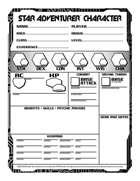 RPGPundit's Star Adventurer Form-Fillable Sheets