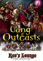 Kev's Lounge Paper Minis: Gang of Outcasts