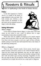 Chicken Heroics: Roosters & Rituals