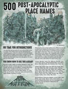 500 Post-Apocalyptic Place Names