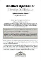 OneDice Options #1: Mooks & Minions