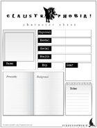 Claustrophobia! — Character Sheet