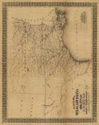 Antique Maps X - Old Southwest in the 1800's