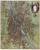 Antique Maps XXXI - Paris of the 1600's