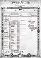 ZWEIHÄNDER: Hoja de Personaje (ES) - Play Aid for Zweihander RPG