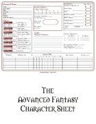 Advanced Fantasy Character Sheet