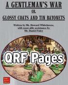 A Gentleman's War - QRF pages