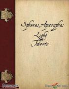 Spheres Apocrypha: Light Talents
