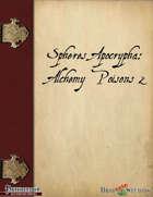 Spheres Apocrypha: Alchemy Poisons 2