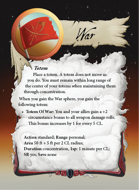 Ultimate Spheres Cards: War
