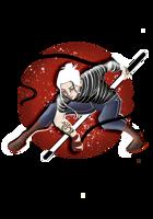 White Haired Monk RPG Stock Art